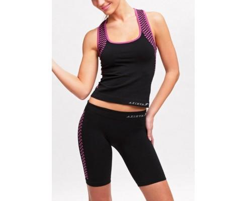 Sportovní souprava AXIRYA Canotta+Shorts, červená s černou, S/M AXIRYA SF024