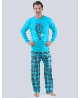 Pánské pyžamo dlouhé 79055P GINO