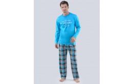 Pánské pyžamo dlouhé 79067P GINO