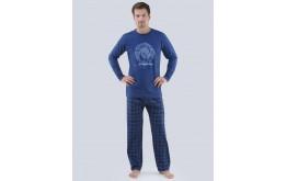 Pánské pyžamo dlouhé 79063P GINO
