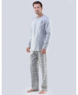 Pánské pyžamo dlouhé 79065P GINO