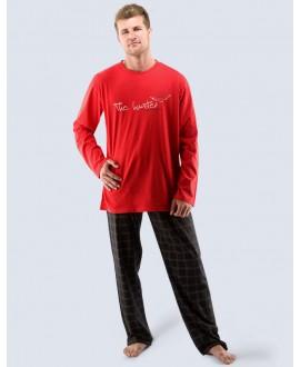 Pánské pyžamo dlouhé 79027P GINO
