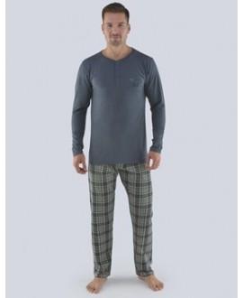Pánské pyžamo dlouhé GINO 79071P
